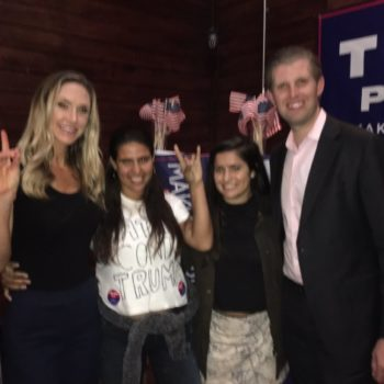 """This woman wore a """"Latina Contra Trump"""" shirt at a Trump rally and no one had a clue"""