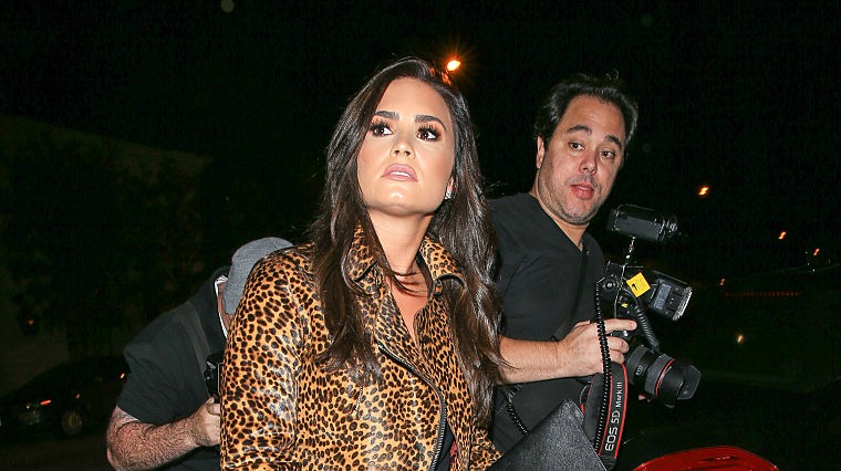 Demi Lovato's leopard-print skirt and jacket combo is your new LBD alternative