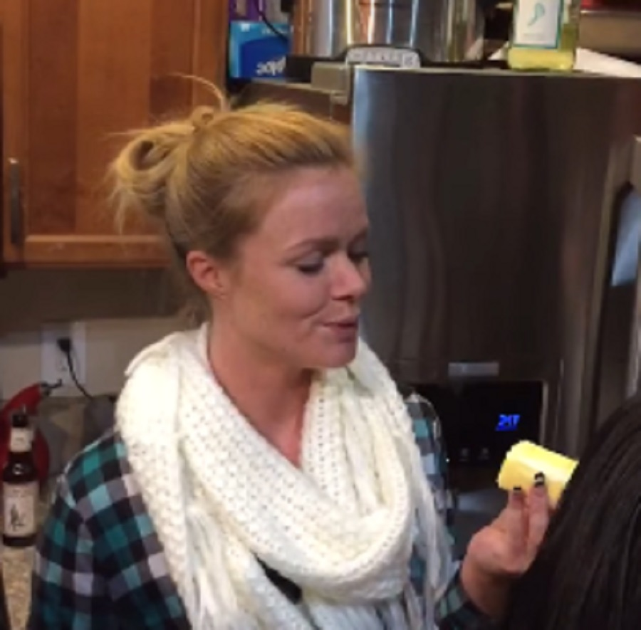 Woman swallows entire stick of butter at once and we're impressed and slightly confused