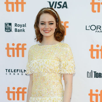 Emma Stone's latest red carpet dress is basically a long tank top with a ~twist~