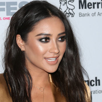 Shay Mitchell absolutely SLAYED the red carpet in this plunging gold blazer