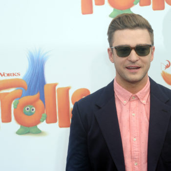 "Justin Timberlake's son is already obsessed with ""Trolls"" and so much awwww"
