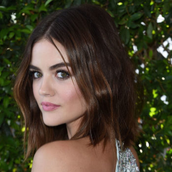 So THIS is how Lucy Hale pulled off the ultimate hair prank — frangs, aka fake bangs