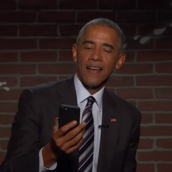 "Barack Obama read mean Tweets about himself on ""Jimmy Kimmel Live"" and LOL FOREVER"