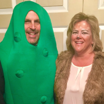This mom and dad's Halloween costumes seem innocent at first — until you realize what they really are
