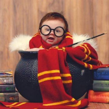 This 3-month-old baby did a Harry Potter photo shoot and she's officially the cutest wizard ever