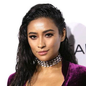 Shay Mitchell SLAYED the red carpet in a velvet wrap-around dress and we are speechless
