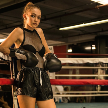 Gigi Hadid is a badass boxer in boots she designed for Stuart Weitzman