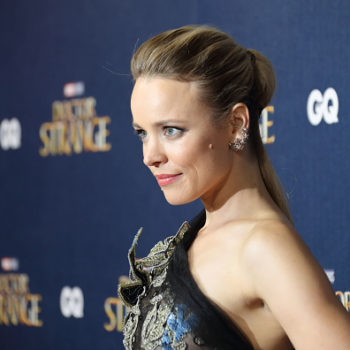 Rachel McAdams is ready to take flight in this sheer, bird-covered gown