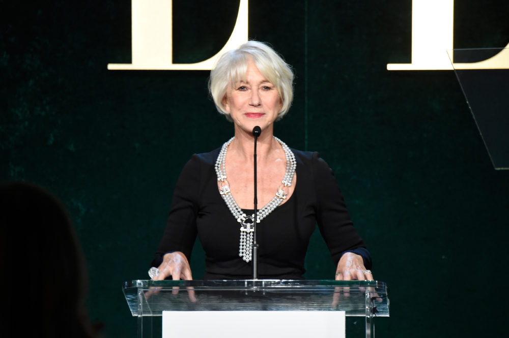 Helen Mirren kills it in Morticia Addams dress, is #stylegoals personified