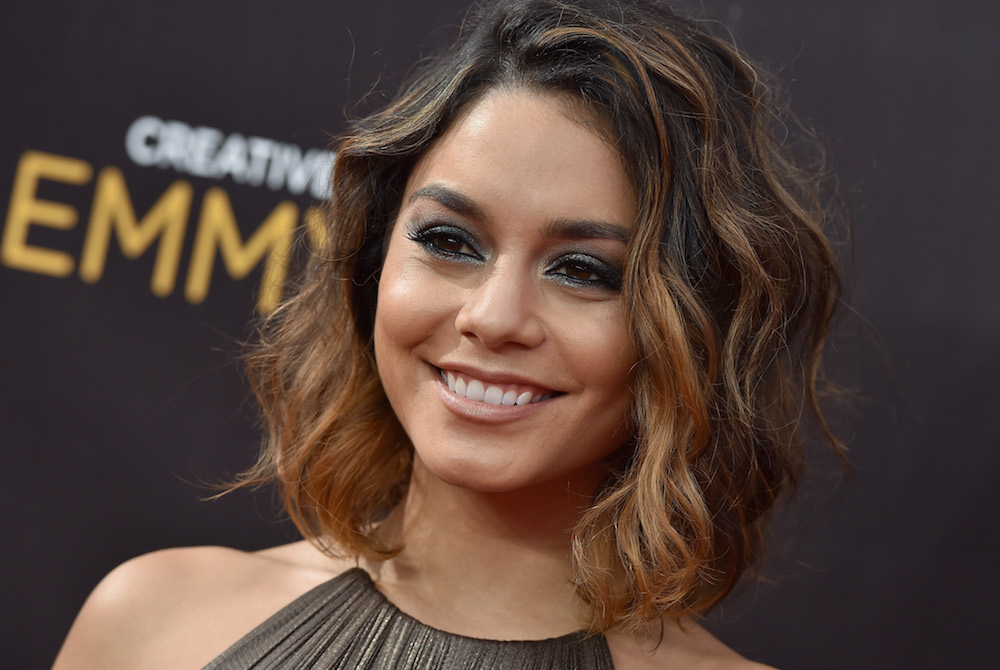 Vanessa Hudgens' topknot braid is basically the most perfect updo