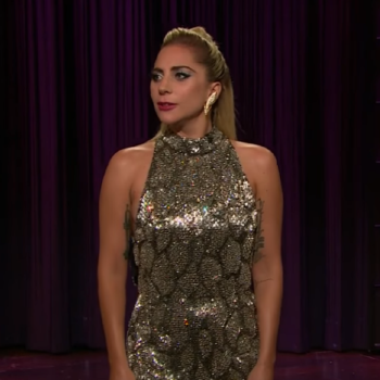 "Lady Gaga totally crashed James Corden's monologue on ""The Late Late Show,"" and it was awesome"