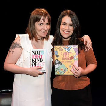 A fire alarm went off during Abbi Jacobson and Lena Dunham's show and they handled it hilariously