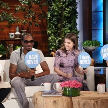 "You HAVE to watch Snoop Dogg, Martha Stewart, and Anna Kendrick hilariously play ""Never Have I ever"" on ""Ellen"""