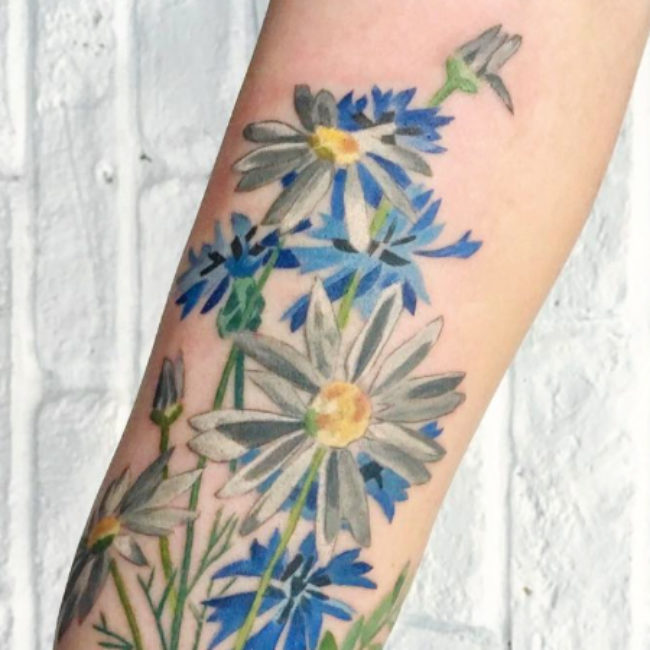 12 floral tattoos that will comfort you when all of your plants die this winter