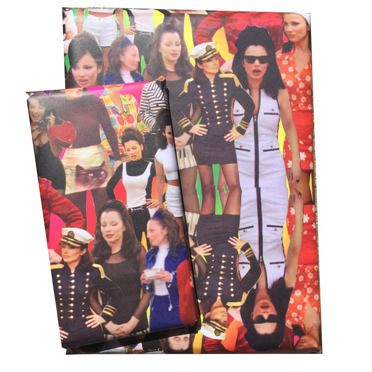 "Um, we want all of our presents from now on to come to us in ""The Nanny""-themed wrapping paper"