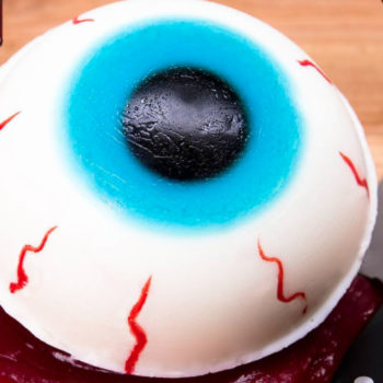 This giant gummy eyeball is seriously peak Halloween creepy food