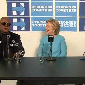 Stevie Wonder sang Happy Birthday to Hillary, and it's simply amazing