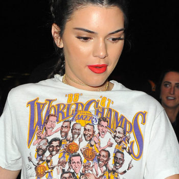 Kendall Jenner shows some Lakers love in her game-day outfit