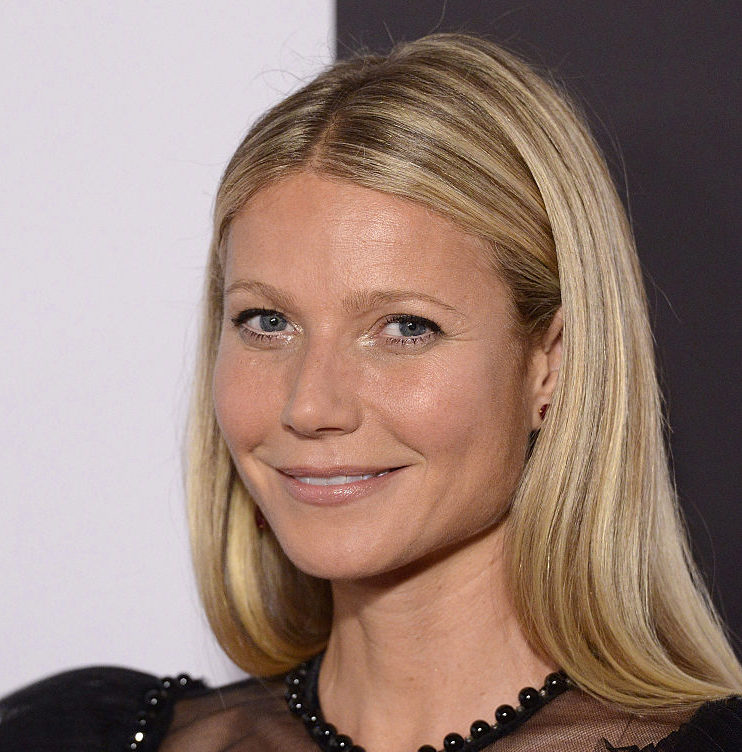 Gwyneth Paltrow is in full bloom in this sheer, rose-covered gown