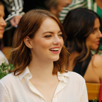 Emma Stone's exposed bra look is making *business sexy* a thing