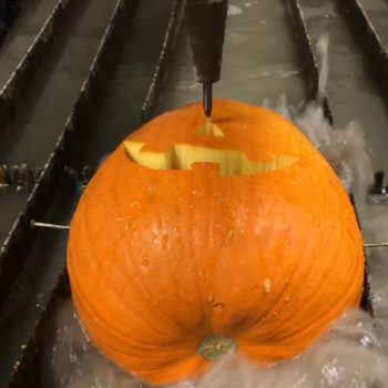 Here's how to carve a pumpkin with a water jet, and it is surprisingly fascinating