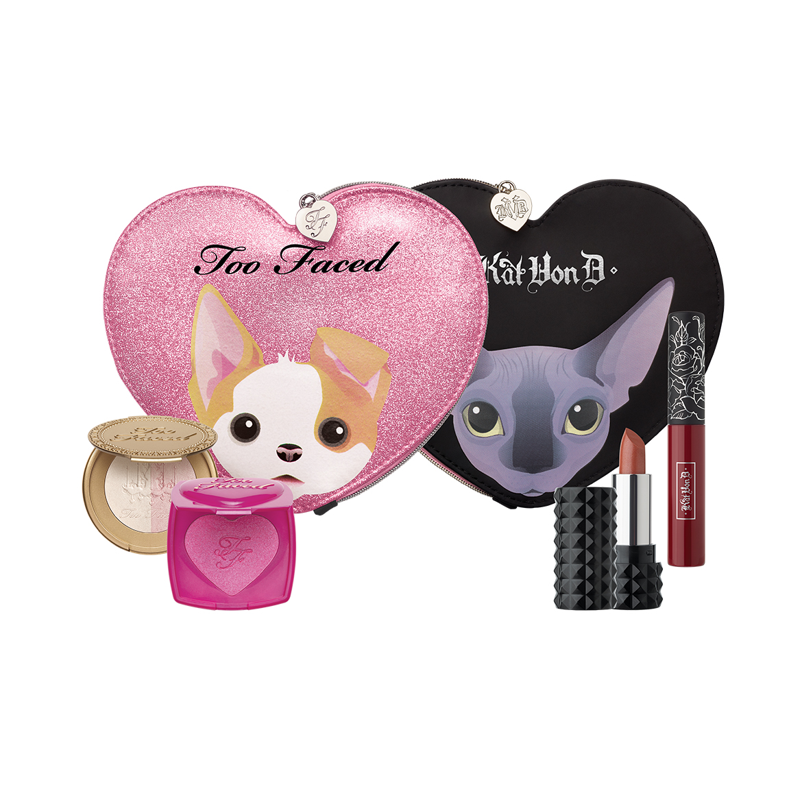 Kat Von D and Too Faced officially started the countdown to their collab with the cutest video