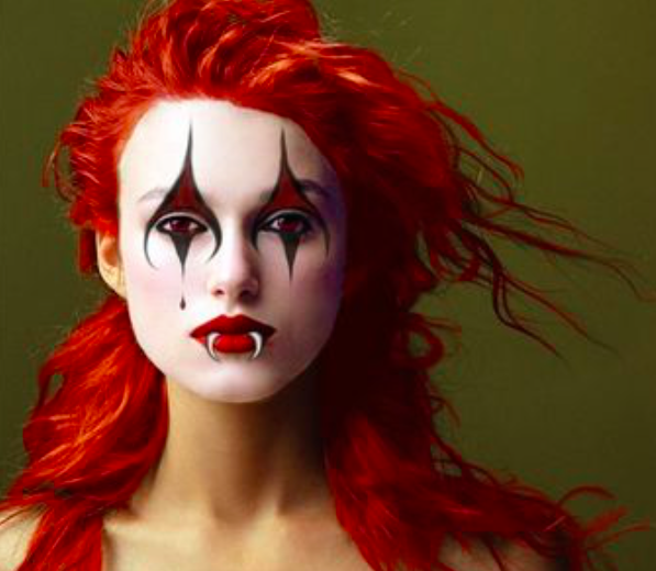These photos of celebrities as clowns are haunting and oddly transfixing