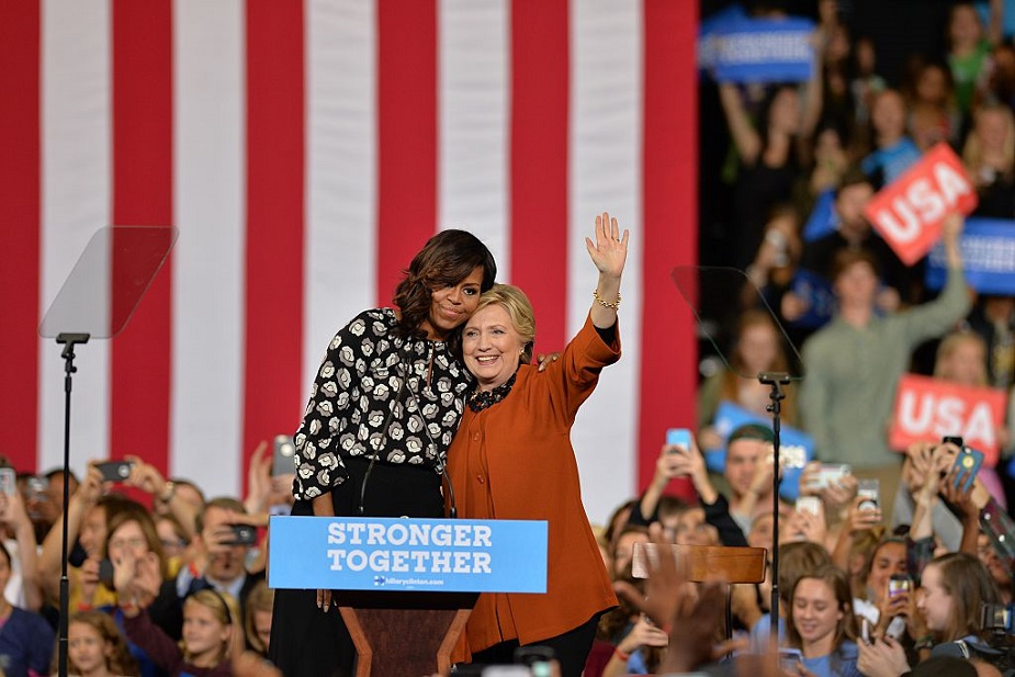 "Michelle Obama did her own version of the Hillary ""shimmy shake,"" and we're loving it"