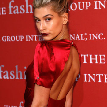 Hailey Baldwin is on fire in this little red dress