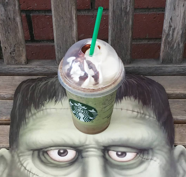 "Pro tip: Starbucks has a ""Frankenfrapp"" on their secret menu item"