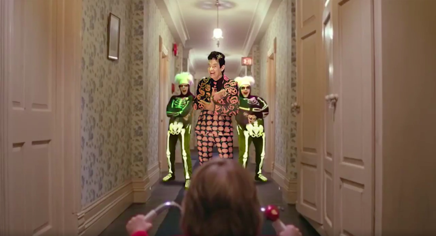 SNL's David S. Pumpkins was inserted into a ton of actual scary movies, and OMG we needed this