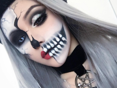 Skeleton makeup looks for Halloween that are completely breathtaking