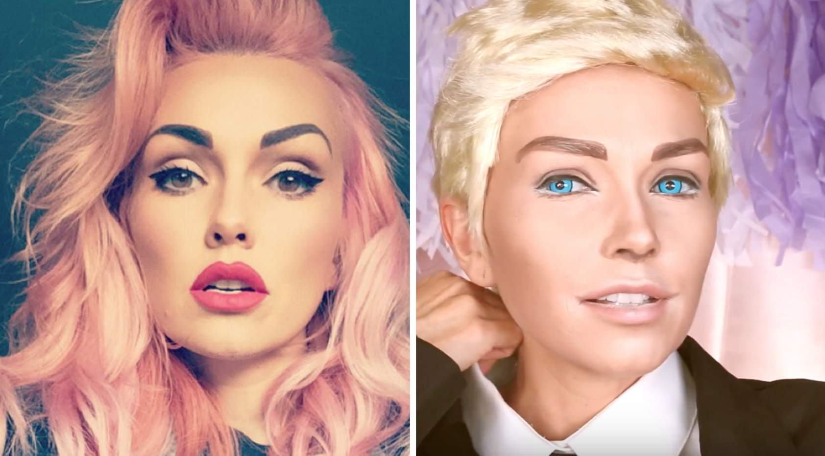 This woman transformed herself into a Ken doll, we're kinda freaked out right now