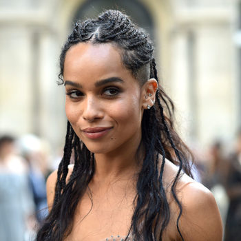 We're scheduling a hair appointment ASAP because Zoë Kravitz's new hairstyle is giving us blue heart emoji vibes