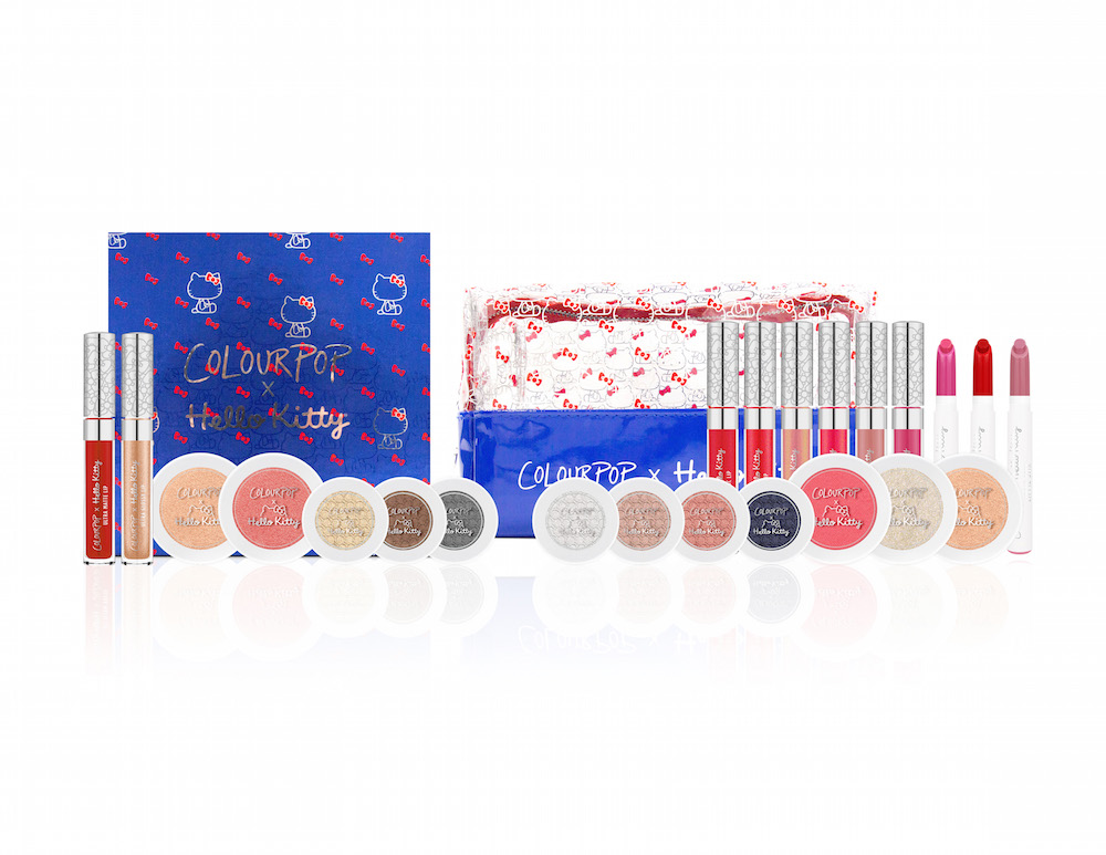 Get ready to SWOON: Here is everything from the new ColourPop x Hello Kitty makeup collection
