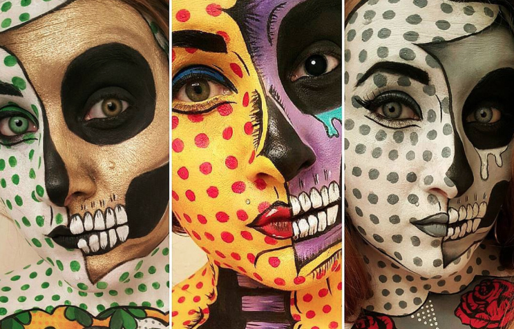 This makeup artist's full on body paint is *probably* the best Halloween makeup we've seen so far