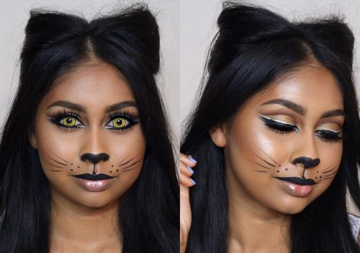 Step up your cat costume this Halloween with this super chic twist