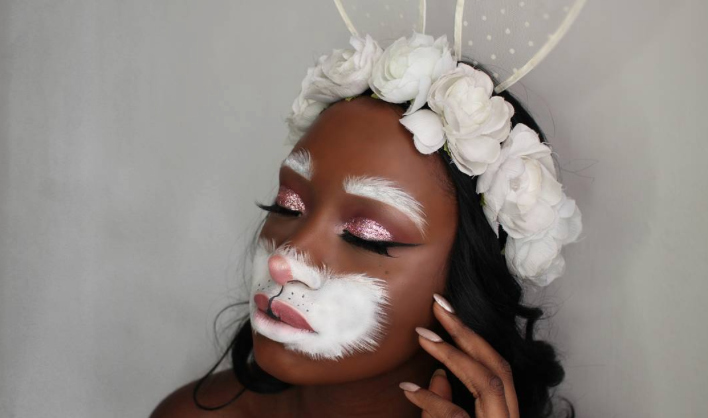 This makeup artist created the *sweetest* bunny costume and we're definitely giving it a try this Halloween