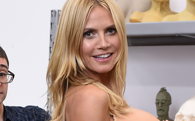 Heidi Klum just blessed us all with the first tease of her Halloween costume this year so get ready