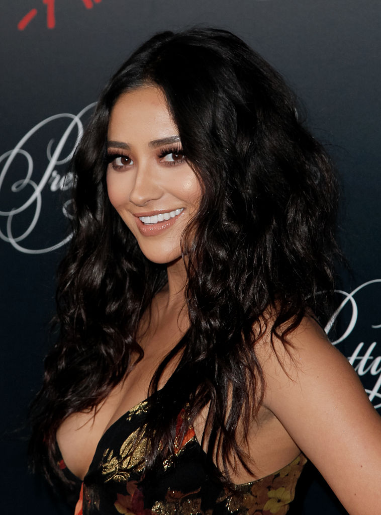 Shay Mitchell dazzles in a gorgeous pink dress on the