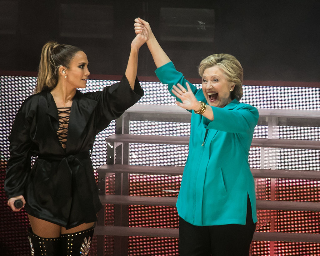 Hillary Clinton joining Jennifer Lopez out on stage might be too much girl power to handle