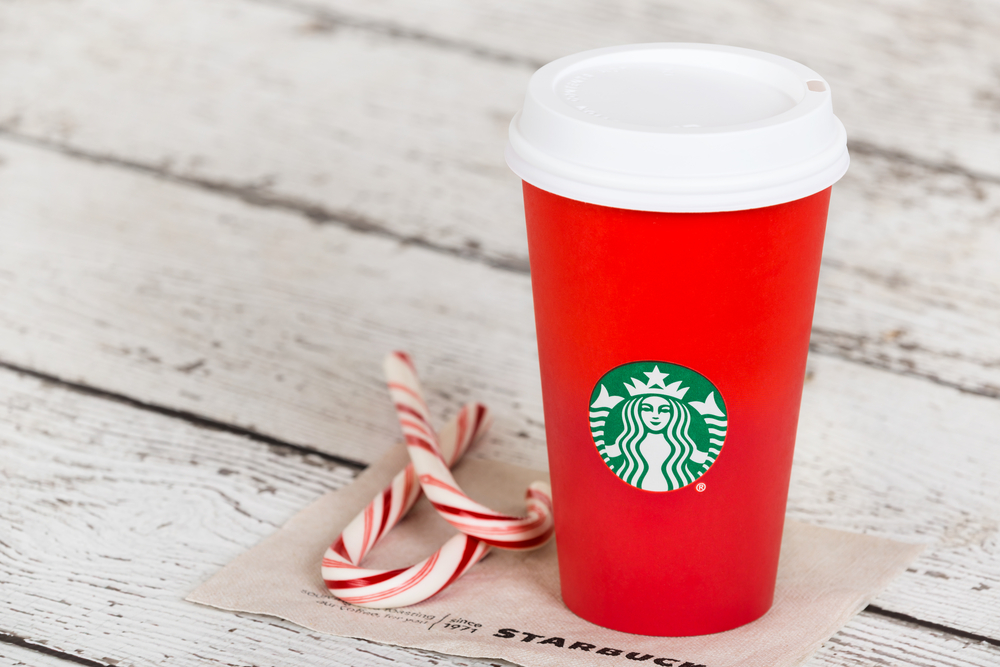 The new Starbucks holiday cups are here — and they're NOT red