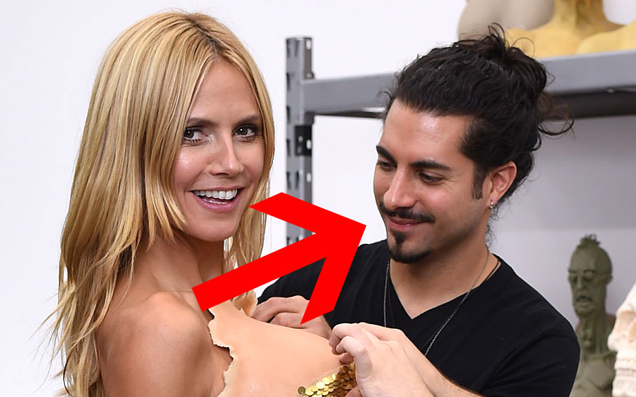 We need to talk about how problematically hot Heidi Klum's makeup artist is