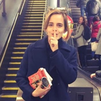 Emma Watson has been hiding books for you to find in the London subway