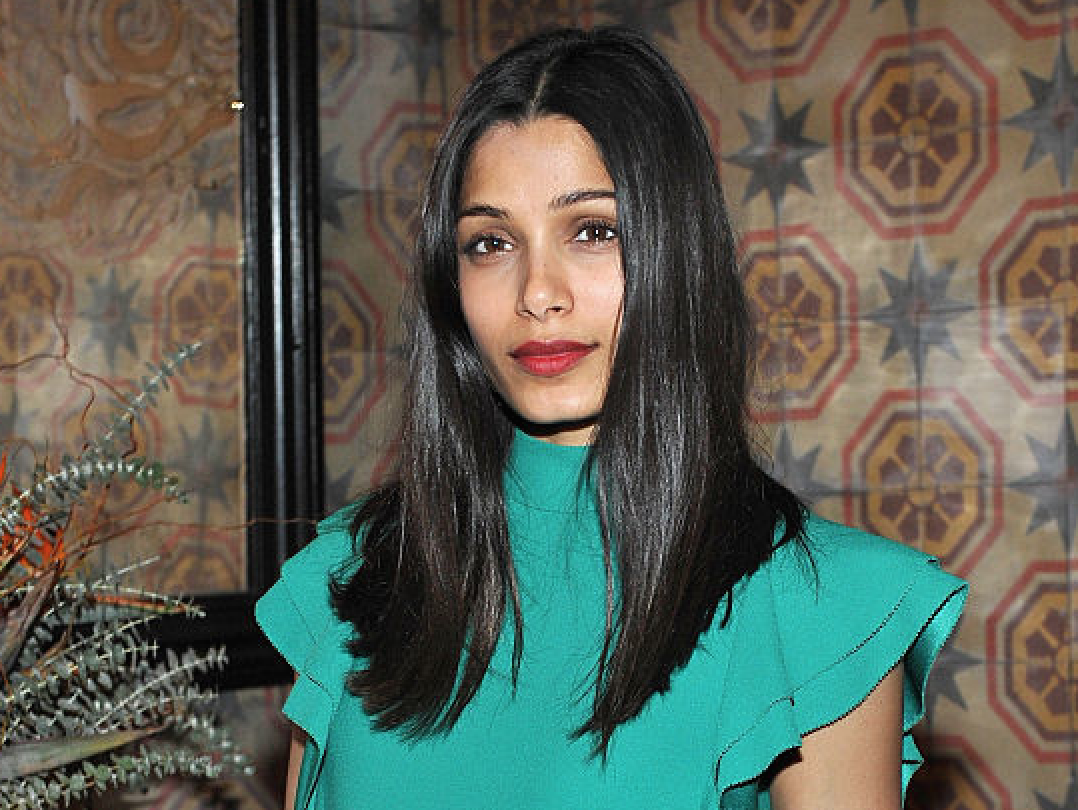 Freida Pinto masters the art of rocking turquoise in fall