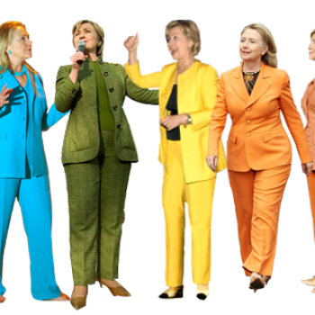 Why this woman is wearing a pantsuit to the polls