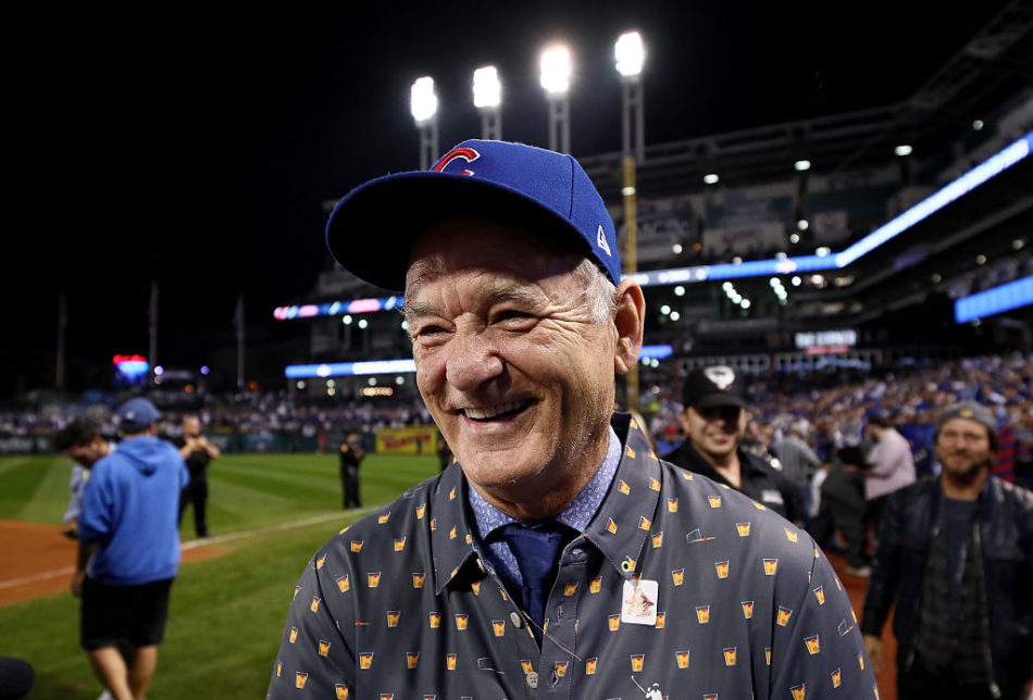 We're loving Bill Murray's random acts of kindness at the Cubs game