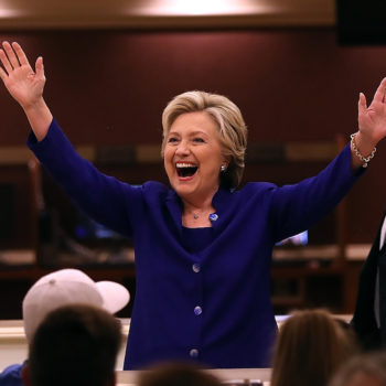 Hillary Clinton's reaction to the Cubs winning the World Series might be more awesome than the historic win
