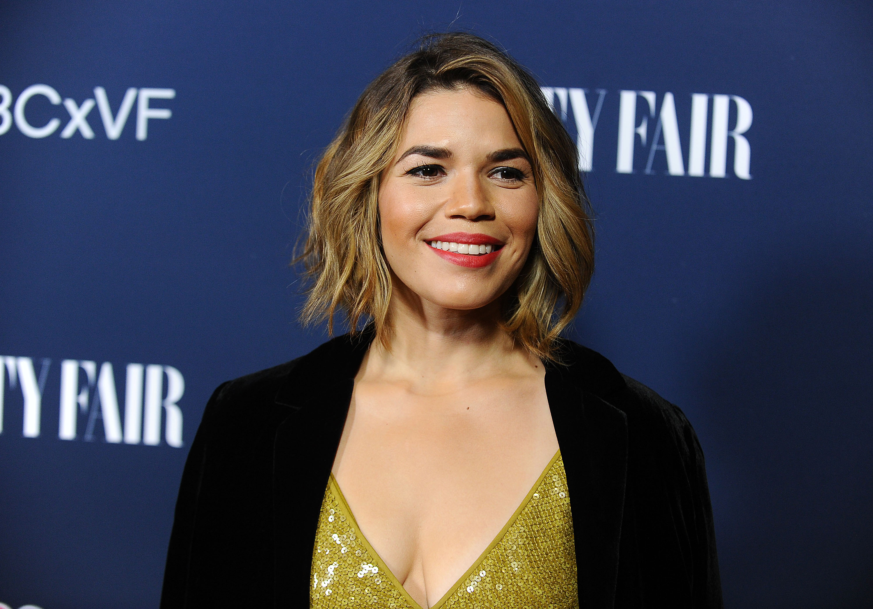 America Ferrera's red carpet dress is fit for a ray of sequined sunshine